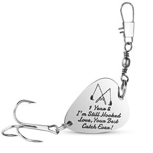 1st Wedding Anniversary Gifts Fishing Lure Fisherman Gifts for Husband/Boyfriend Mens Christmas Valentines's Day Gift