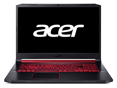 "Acer Nitro 5 - Ordenador portátil Gaming de 17.3"" (FHD IPS slim bezel LCD,  Intel Core i7-9750H, 4GB de RAM, 512GB SSD, NVIDIA GeForce GTX 1650 4GB, Linux) - Teclado Qwerty Español"