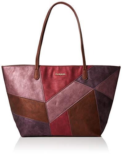 Desigual Bols_ares Capri Zipper - Borse a spalla Donna, Rosso (Magenta), 13x28x30 cm (B x H T)
