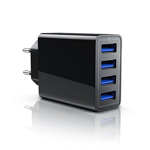 CSL - USB Netzteil mehrfach Ladegerät - 4 Port USB USB Charger - geeignet für Handy, Smartphones Tablets von Asus Huawei LG Oppo Motorola Samsung Sony ZTE Xiaomi