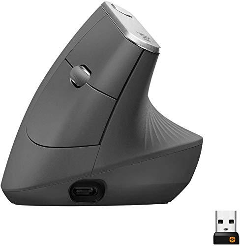 Logitech MX Mouse Verticale Wireless Ergonomico,...