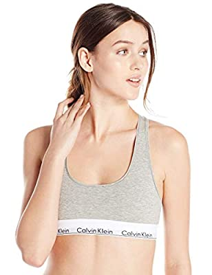 Machine Wash Breathable cotton blend bralette Racerback straps Iconic Calvin Klein logo-embroidered elastic band