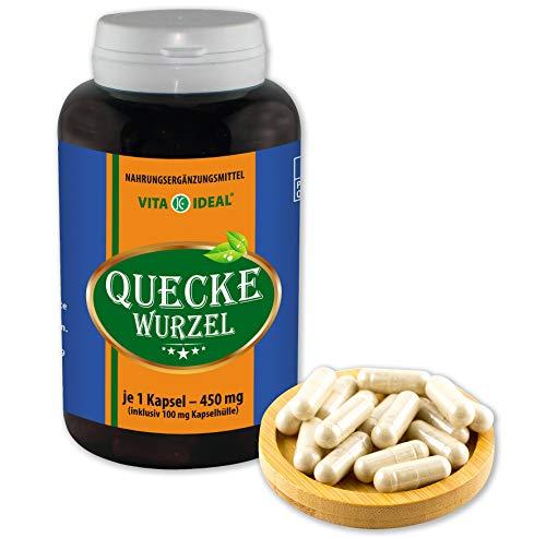 VITAIDEAL ® Quecken-Wurzel (Agropyron repens) 180 Kapseln je 450mg, aus rein natürlichen Kräutern, ohne Zusatzstoffe von NEZ-Diskounter