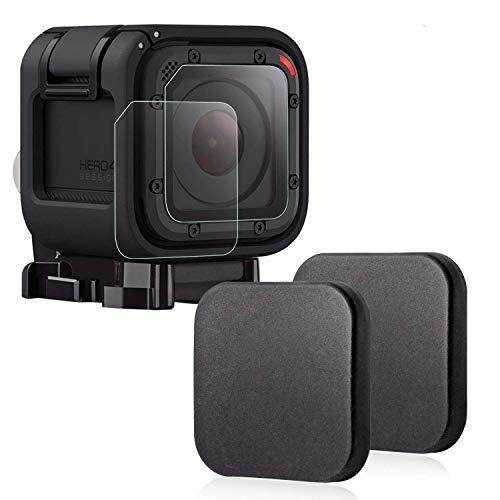 Hapurs Custodie protettive e protezioni schermi per fotocamere sportive lente Gopro Hero 4S 5S, proteggi schermo in vetro temperato antigraffio per Gopro Hero 4 Session e 5 Session