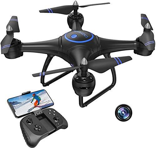 AKASO A31 Drone avec Caméra HD 1080P LED,Quadcopter FPV WiFi,3D VR,Mode sans Tête,360° Flips,Maintien de l'Altitude Maniable,Helicoptère Télécommandé à Enfants Adultes Débutants