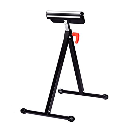 Finether Height Adjustable Folding Roller Stand, Pedestal with Ball Bearing Roller, Works with Table Saws, Miter Saws, Planers and Jointer for Log, Timber, Firewood and Metal Material,132 lbs Capacity