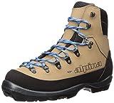 Alpina Sports Women's Montana Eve Backcountry Cross Country Nordic Ski Boots, Brown/Black/Blue, Euro 37
