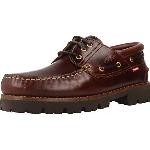 Fluchos   Zapato de Hombre   Richfield F0046 Pull Castaño Zapatos Light   Zapato de Piel de Ternera de Primera Calidad   Cierre con Cordones   Piso de Goma Personalizado