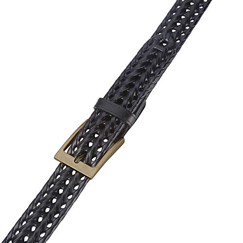 Mens Belt,Lavemi Leather Woven Braided Belts for Men Casual Jeans Dress Golf,Gift Boxed