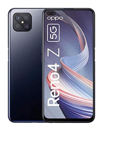 OPPO Reno4 Z 5G Smartphone, 6,57 Zoll 120 Hz FHD+ Display, 48+8+2+2 MP Kamera, 16 MP Dual Frontkamera, 128 GB ROM/8 GB RAM, inkl. Gutschein [Exklusiv bei Amazon], Ink Black – Deutsche Version
