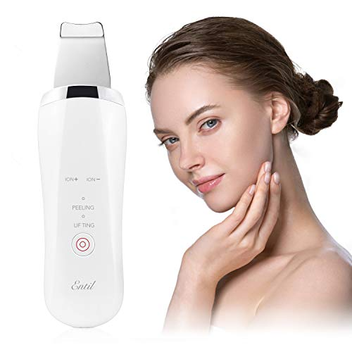 Skin Scrubber, Limpiador de la Piel Facial con EMS Masaje, 4 en 1 Espátula Facial...