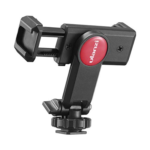 ULANZI Universal Phone Tripod Mount with Cold Shoe Mount, Rotated Cell Phone Clamp Holder Smartphone Clip Adapter for iPhone 11 Pro Max X XR Xs Max 8 7 Plus Samsung Galaxy s10 s9 Note10 Google OnePlus