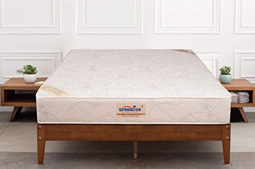 Springtek Ortho Pocket Premium Spring 6-inch Queen Size Mattress (White, 78x60x6)