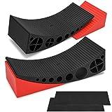 Kohree 2 Packs Camper Leveler, RV Leveling Ramp Blocks Chock Kit - Up to 30,000 lbs, Anti-Slip Mats...