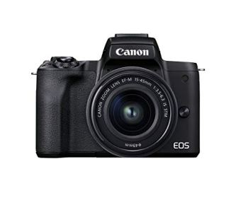 Canon EOS M50 Mark II (Black) + EF-M 15-45mm & EF-M 55-200mm is STM Bundle