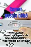 Carnet essais bébé -ovulation et grossesse-tomber enceinte...