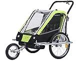 Fixi Master Multifunktion 2en 1Remorque de vélo/jogger Baby Chariot Vert...