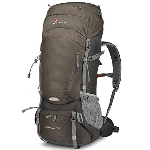 Mountaintop 55L/65L Hiking Backpack with Rain Cover