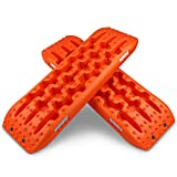 X-BULL New Recovery Traction Tracks Tire Ladder for Sand Snow Mud 4WD(Orange)
