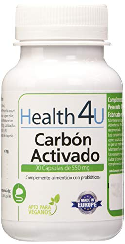H4U Carbón Activado - 3 Paquetes de 90 Cápsulas