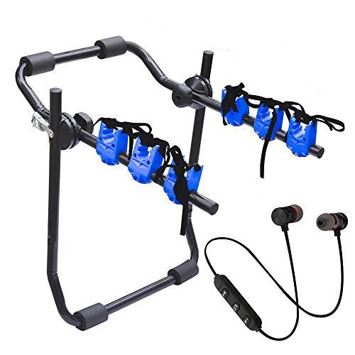 Lupex Shop Compatibile Con 208 Portabici Posteriore Auto Per 3 Bici Con Auricolari Omaggio Xt-6