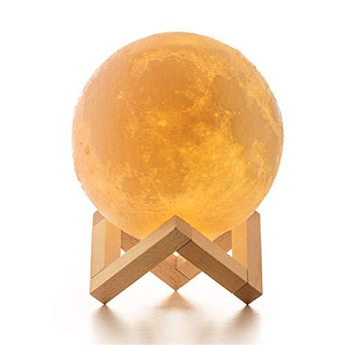 ICONNTECHS IT Mond Lampe 3D-gedruckte Helligkeit dimmbar Mondlicht 16 RGB Farben USB...