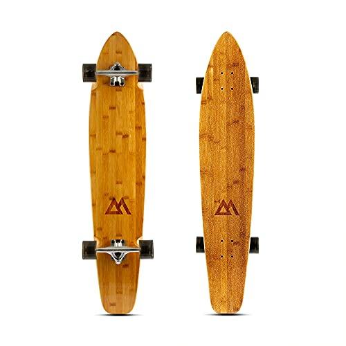 Magneto 44 inch Kicktail Cruiser Longboard Skateboard | Bamboo and Hard Maple Deck | Cruising,...
