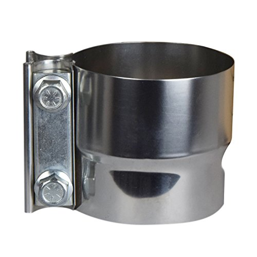Roadformer 2.5' Lap Joint Exhaust Band Clamp - Preformed Stainless Steel for 2.5' ID to 2.5' OD Exhaust Pipe Connection