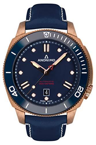 Anonimo nautilo Herren Uhr analog Automatik mit Leder Armband AM100207005A07