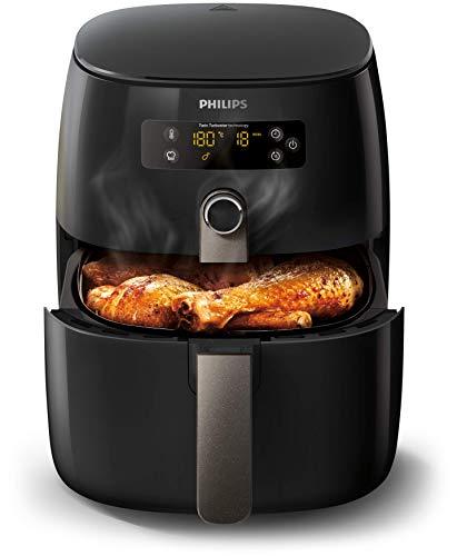 Philips Avance Collection HD9741/10 - Freidora (Freidora baja en grasa, 0,8 kg, TurboStar, 0,5 h, 60 min, Doble)