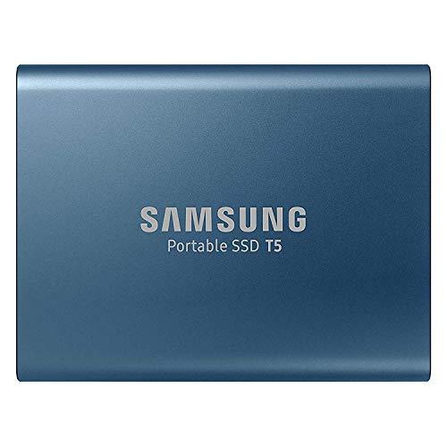 Samsung T5 500GB - Disco Estado sólido SSD Externo (500GB, USB), Color Azul