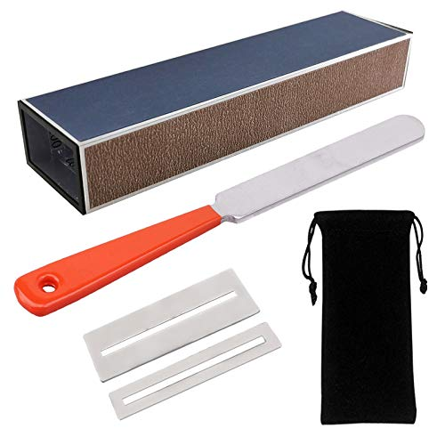 Guitar Fingerboard Luthier Tool Set Including Guitar Fret Crowning Luthier File, Fret Leveling Beam Sanding Leveler Beam and Fingerboard Guard Protectors for Guitar Bass with Portable Storage Bag