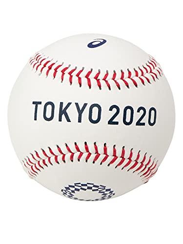 ASICS BB 野球 記念ボール F ホワイト 東京2020オリンピック エンブレム