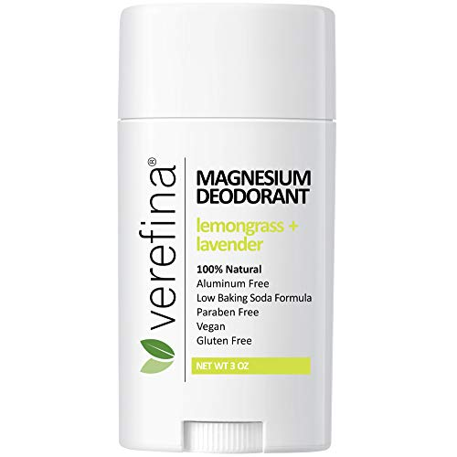 Verefina Aluminum Free Deodorant For Men & Women   All Natural   Hypoallergenic   Paraben Free   Non Toxic   Cruelty Free   Vegan   Natural Deodorant For Sensitive Skin   3 Oz Stick
