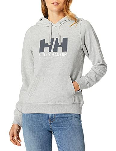 Helly Hansen W HH Logo Hoodie, Mujer, Grey Melange, L