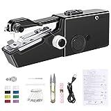 AUCHIKU Mini Machine à Coudre Portable avec Câble de Chargement,30 Pcs...