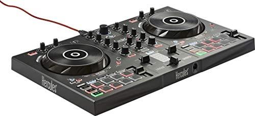 HERCULES Autre inpulse 300  Controller DJ USB  2 tracce con 16 pad e scheda audio  software e tutorial incluso, nero/bianco
