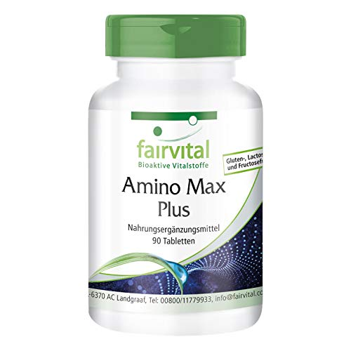 Aminosäure Komplex - Amino Max Plus - enthält 8 essentielle Aminosäuren - 90 Tabletten