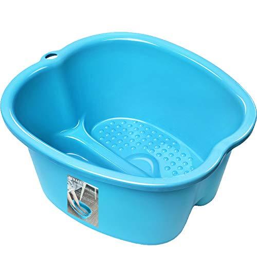 Foot Soaking Bath Basin - Large Foot Soaking Tub Foot Bath Spa Wash Basin Foot Bucket Foot Soaking Tub Feet at Home(Blue)