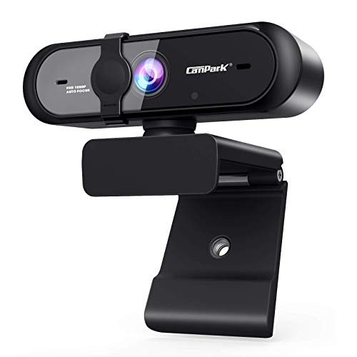 Campark Webcam 1080P, Cámara Web con Micrófono Enfoque...