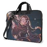 15.6″Durable Hombro Mensajero Bolsa maletín PC Demon S-l-a-yer Kimetsu no Yaiba Moda Impermeable Ordenador Portátil/portátil/Tablets