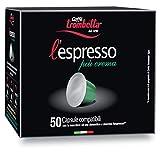 Caffè Trombetta L'Espresso, Capsule Compatibili Nespresso, Più Crema - 50 Capsule