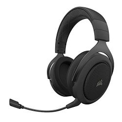 CORSAIR HS70 Wireless - 7.1 Surround Sound Gaming Headset - Discord Certified Headphones - White