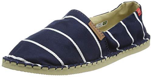 Havaianas Origine Stripes, Espadrille Wedge Sandal Unisex Adulto, Navy Blue, 41