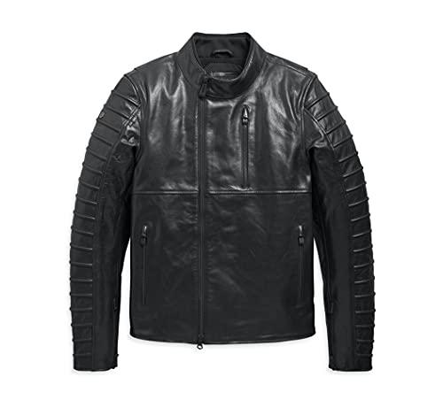 ハーレーダビッドソン オゼロパーフォレイテッドレザージャケット メンズ ブラック バイクウェア ジャケット 革ジャケット レザージャケット 98006-20VM (L)