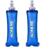 TRIWONDER TPU Botella Soft Flask Bolsa de Hidratación Plegable a Prueba de Fugas Ideal para Mochila de Hidratación para Correr Ciclismo Senderismo (250 ml / 8.45 oz - Paquete de 2)