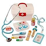 ZUJI 16pcs Doctora Juguetes Maletin Medicos Juguete Madera Doctor Playset para Niños