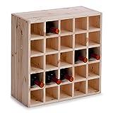 Zeller 13172 Casier à vin en bois naturel, 52 x 25 x 52 cm