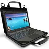 UZBL 11-11.6 inch EVA Always On Work-in Protective Laptop Sleeve and Case with Carrying Handle and Strap for Chromebook, Ultrabook and Notebooks, Designed for Students, Classrooms and Business
