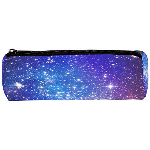 Tizorax Astuccio portapenne, motivo: galassia lontana con stelle e nebulosa, con cerniera, ideale per matite, trucchi, cosmetici, monete, organizer da donna, ragazzi e bambini, unisex